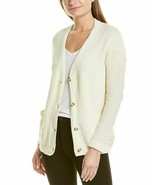 FOR THE REPUBLIC Women's 100% Cotton Raised Stich Cardigan in Natural NW... - $12.10