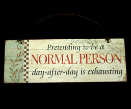 Small Wall Plaque Decoration Normal Person - $6.98