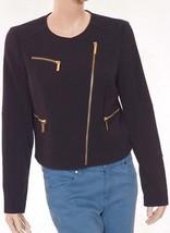 Michael Kors Womens Black Gold Lined Asymmetrical Jacket Coat - $79.99