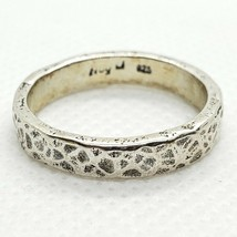 Noy Li Sterling Silver 925 4mm Hammered Band Ring Size 7 FREE Shipping - $24.99