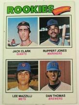 1977 Topps Baseball Card #488 Outfielder Rookies Jack Clark Dan Thomas  - $12.00
