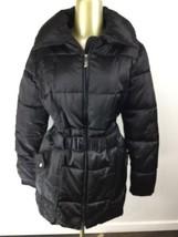 apt. 9 Full Zip Up Insulated Black Winter Jacket with Belt Women's Size ... - $26.13