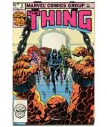 The Thing 3 VFNM 9.0 Marvel Volume 1 1983 The Inhumans John Byrne  - $4.94