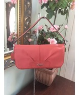 Coach Wristlet Ashley Coral Leather Flap Small Bag Pink F45891 W15 - $59.39