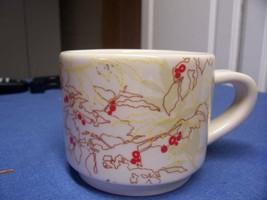 "STARBUCKS COFFEE CUP MUG RED 3"" TALL 2009 TWIGS SCRIBBLe - $6.79"