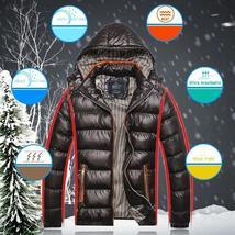 Men's Autumn Winter Jacket Hooded Warm Cotton Casual Fashion Coat Men Jackets
