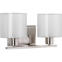 Bathroom Vanity Light 100-Watt Damp Rated Mounting Hardware Brushed Nickel - $122.90