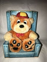 Plush Talking Baby Bear's Read-Along w/ Goldilocks & the Three Bears Boa... - $24.74