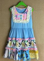 NEW Girls Boutique Blue Sleeveless Tiered Floral Ruffle Dress 5-6 6-7 7-8 - $19.99