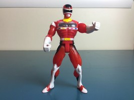 1997 Bandai Power Ranger In Space Rare Red Battlized Ranger Clear Chest - $9.85