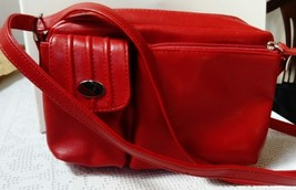 Vintage BHS, Post Box Red, Shoulder Handbag, Adjustable Strap - $19.72