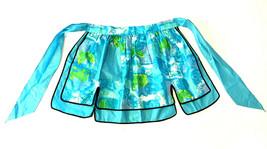 NWT New Old Stock Turquoise Reversible Apron Bric-a-Brac Trim w/ Pocket ... - $19.68