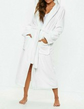 MISSGUIDED White fluffy long length dressing gown UK M US M EU M    (cam... - $24.74