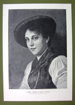 LOVELY GIRL from Tyrol - VICTORIAN Era Print - $13.49
