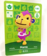141 - Nana - Series 2 Animal Crossing Villager Amiibo Card - $29.99