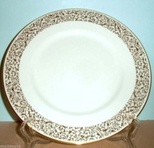 "Vera Wang Wedgwood Vera Filigree Gold Accent Luncheon Plate 9"" NEW - $34.90"