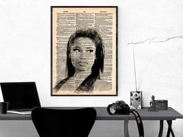 Music Art Print-Nicki Minaj Art Print-Music Prints-Vintage Art-Home Deco... - $11.82