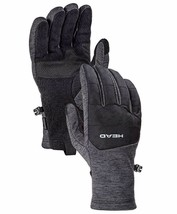 HEAD Men's Gray Ultrafit Sensatec Touchscreen Fleece Lined Running Gloves image 1