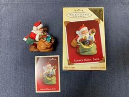 Hallmark Christmas Ornament, Santa's Magic Sack, Clips to Light, 2005 - $16.00