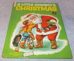 Vintage Wonder Book A Little Cowboy's Christmas No 570 1951 - $7.95