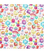 Shopkins Fabric Cotton Packed rainbow Celebration Sewing Fabric BTY - £8.43 GBP