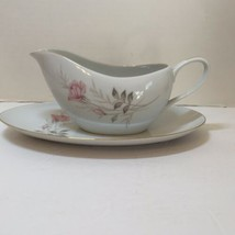 "Gravy Boat and Underplate American Rose Camelot China Japan 9.5"" x 6"" - $12.59"