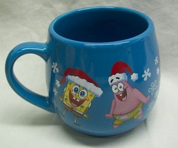 "CHRISTMAS HOLIDAY SPONGEBOB SQUAREPANTS & PATRICK STAR 3"" DRINKING MUG CUP - $19.80"