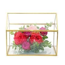 NCYP Large Geometric Glass Card Box Organizer Terrarium Centerpiece Deco... - $69.49 CAD