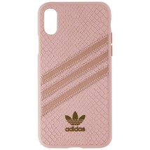 Adidas 3-Stripes Snap Case for Apple iPhone XS and X - Pink Snake / Gold - $31.85