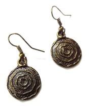 Antique Gold Earring Jhumki Contemporary Fashion Jewelry Hook Drop Dangl... - $4.19