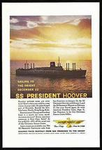 President Hoover American President Lines San Francisco to Orient  Photo... - $10.99