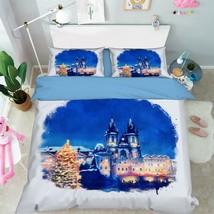 3D Town Xmas 324 Bed Pillowcases Quilt Duvet Cover Set Single Queen King Size AU - $90.04+