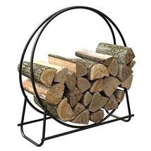 Fireplace Log Rack Steel Log Holder Indoor Outdoor Use Fire Wood Holder ... - $57.32