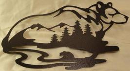 Bear with Bear, Mountains, and Forest Scene Metal Wall Art - $28.50+