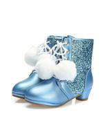 Girls Blue Pom Pom Winter Boots Birthday Sequins snow boots warm girls b... - $79.99+