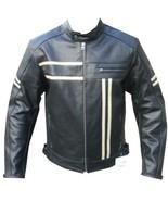 QASTAN Men's New Superb Black Motorbike CE Protectors Leather Jacket QMMJ11 - $199.00+