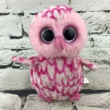 Ty Beanie Boo Pink Plush Pink Owl Hatchling Chick Stuffed Animal Soft Toy  - £8.08 GBP