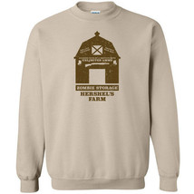 252 Hershel's Farm zombie storage Crew Sweatshirt dead apocalypse ammo - $20.00+