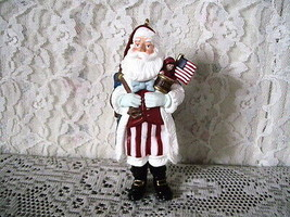 HALLMARK PATRIOTIC MERRY OLDE SANTA ORNAMENT #7  KEN CROW 1996 - $17.75