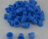 10 Year Seller 1000PCS Medium Size 13mm Blue Plastic Tattoo Ink Cap Cups Supply