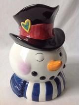 """Tammany Devine Winking Snowman Pitcher 2 Quart 8.5"""" Tall - £22.21 GBP"""