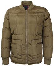 vkwear Men's Quilted Padded Insulated Heavyweight Puffer Bomber Jacket VAQ image 8