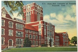 Old Linen Era Postcard Ayres Hall University of Tennessee Knoxville, TN ... - $12.19