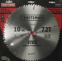 """Craftsman 26816A 10"""" x 72 Tooth Saw Blade Heat-Treated Steel - $4.21"""