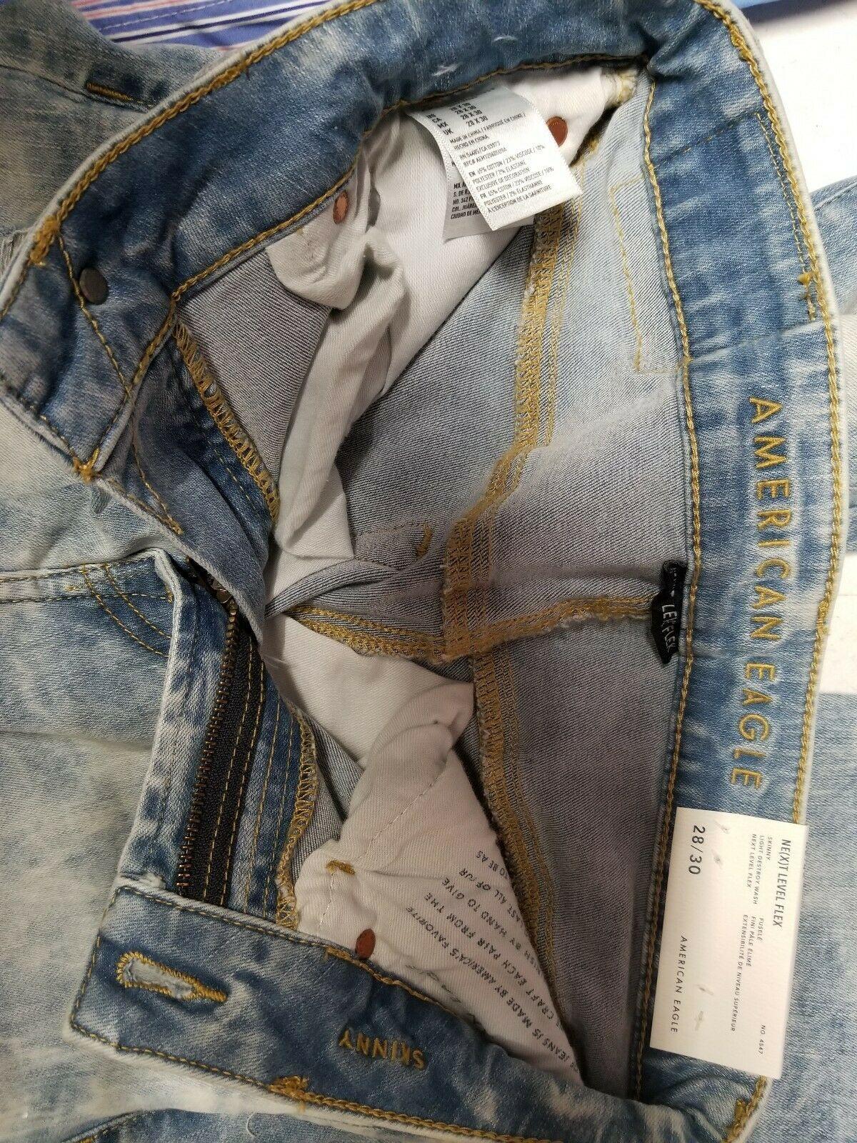 Men's American Eagle Next Level Flex Jeans, Skinny, Size 28x30
