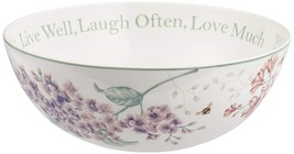 "Lenox Butterfly Meadow ""Live Well Laugh Often Love Much"" Serving Bowl FL... - $59.40"