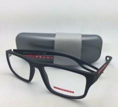 Nuovo Prada Occhiali da Sole Vps 09g Dg0-1o1 53-18 140 Gommato Nero e Rosso - $229.51