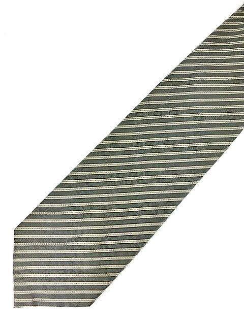 New KENNETH COLE New York SILK TIE Gray & White Men's Neck Tie Designer