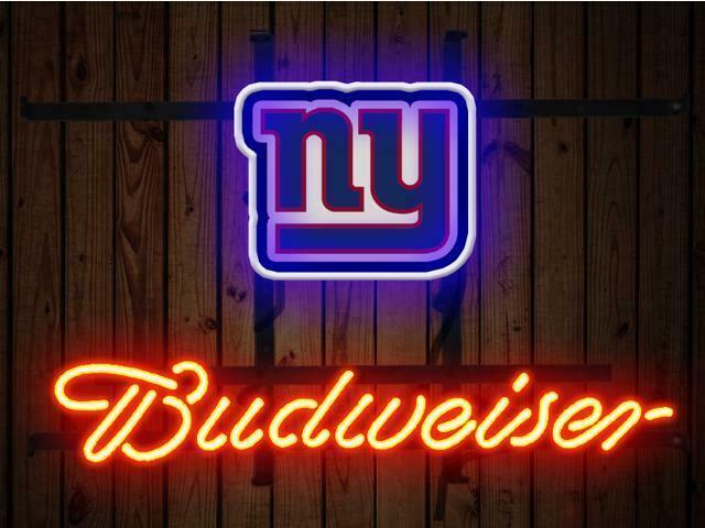 "Budweiser New York Giants Neon Sign 14""x10"" Beer Bar Light Artwork Decor"