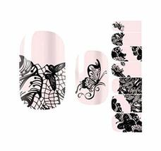 Creative Fashionable Green Nail Stickers Nail Decoration, Butterfly